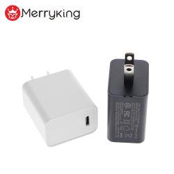 Universal 100-240 V port USB unique-c'adaptateur de charge 18W super rapide Téléphone cellulaire de type C Chargeur mural