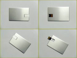 De Métal blanc Logo personnalisé de carte USB Memory Stick™ de la carte d'affaires slim card forme pour les ordinateurs USB