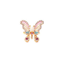 Mooie Butterfly Emaille Diamond milieubeschermingsring