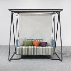 Роскошный отель веревки мебель Swing диван-кровать с навесом двойной диван каната подвешивания