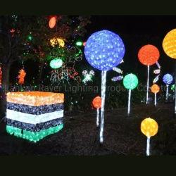 Ornamento del dessert di natale di Polyresin di illuminazione della decorazione di festa della sosta del LED