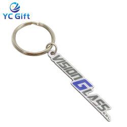 شعار الطباعة من الفولاذ المقاوم للصدأ مخصص واحترافي خاتم مفتاح Epoxy Metal فن الحرف اليدوية أزياء زينة محلات الهدايا محلات الأزياء سلسلة المفاتيح (KC08)