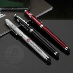 1つの金属Ballpenに付き4つ、LED/Laserのポインターまたは接触または執筆ペン