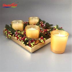 Jarra de cristal decorativas de Navidad Golden Set de Regalo de Velas