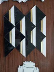 Mosaic SF-M-119 نحاسي من الرخام الأسود الأبيض النافق للمياه للسقف الجدار الداخلي