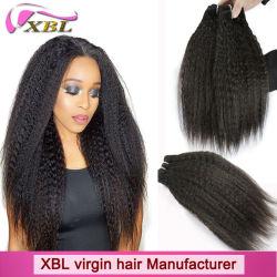 Matières naturelles vierge gros cheveux indiens Remy Tissage de cheveux humains