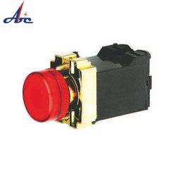 110V 빨간 편평한 맨 위 램프 변압기 유형 Ba9s 기본적인 표시등