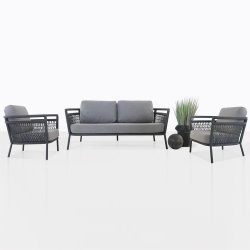 Insieme sezionale del sofà tessuto corda profonda esterna della disposizione dei posti a sedere dell'accumulazione della mobilia