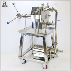 Estrutura de chapa de aço inoxidável Prensa-filtro Filtro de placa Horizontal