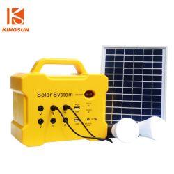Alimentation mini Banque facturés par panneau solaire avec torche intégrée/joueur/Radio pour une utilisation en extérieur
