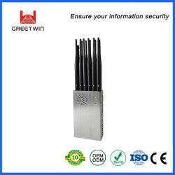 Ordinateur de poche 12 antennes 2g 3g 4g 5g/5.8G WiFi2.4G signal brouilleur de téléphone mobile