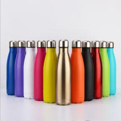 Il marchio personalizzato del laser del Silkscreen placca la bottiglia di acqua 750ml/25oz della cola dell'acciaio inossidabile del fuoco di colore