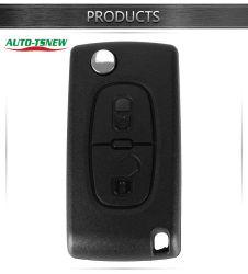 حقيبة مفاتيح بعيدة لPeugeot للسيارة القابلة للطي Citroen المفتاح