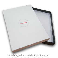 Las dos piezas de la Caja de cartón gris Junta embalaje Caja de papel blanco normal