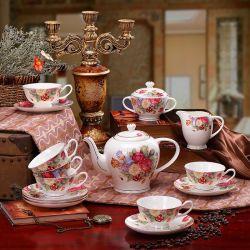 Schotels van de Kop van de Pot van de Koffie van het porselein de Vastgestelde