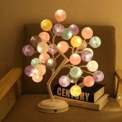 زخرفة رومانسيّ [فولدبل] [لد] قطر خيط سنّ اللولب كرة طاولة شجرة ضوء