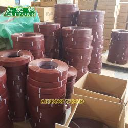 Hölzerne Korn-/Solid-Farben-hoch glatte kundenspezifische neue Material Belüftung-Band-/PVC-Rand-Streifenbildung
