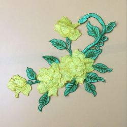 GroßhandelsCustom Large Size Embroidery Flower für Backpacks und Wedding Dresses, usw.