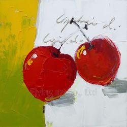 Ручная работа акриловый искусства картины маслом для вишневого фрукты
