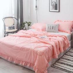 Made in China Home Productos textiles de algodón puro 4 PCS Conjunto colcha edredón de los conjuntos de cubierta de hojas de cama Ropa de cama Set