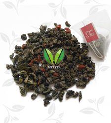Bustine di tè triangolari della piramide del tè verde di sapore della ciliegia del latte
