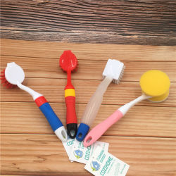 De plastic Reeksen van de Borstel voor Schotel maken schoon