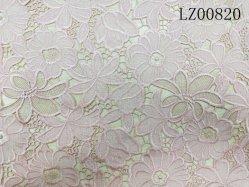 Química rosa de encaje bordado tela para accesorios de prendas de vestir