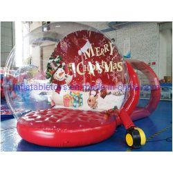 Socle gonflable bulle transparente tente, Boule de Neige gonflable avec tunnel de transmission