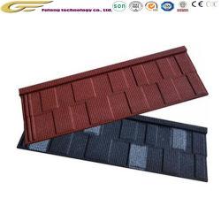 Durable des matériaux de toiture en tôle acier galvanisé recouvert de carrelage en pierre du toit