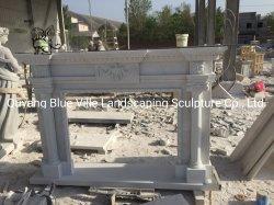 Maßgeschneiderte Fabrik liefern weißen Marmor Kamine Mantel Verkauf MFG-15