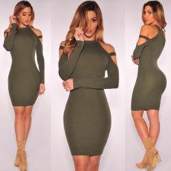 Au printemps et automne discothèque Long-Sleeve bustier robe de vêtements pour femmes de la hanche