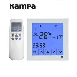 De muur zette de Digitale LCD Thermostaat van de Zaal van het Scherm van de Aanraking Thermoregulator op