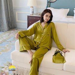 La soie Vêtements de nuit Vêtements de nuit Femmes Enfants Nightwear pyjamas pour enfants