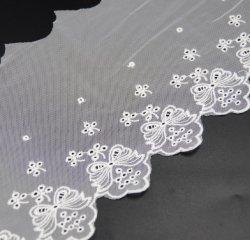 Hans fácil de usar ecológica de tela de encaje bordado Stone