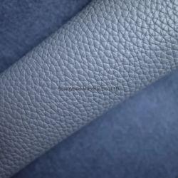 1,0 мм толщиной шаблон Litchi рельефным PU синтетических багаж из натуральной кожи и пакет материалов