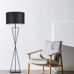 Классический постоянного освещения современные ткани тени металлический напольный светильник для