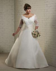 2020 نصفيّة كم شريط [أبّليقوس] [ودّينغ غون] زفافيّ خطّ غلّة كرم أطلس عرف ثوب