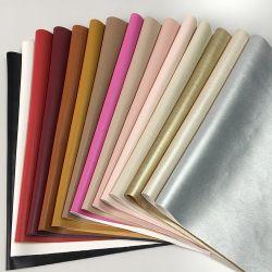 جلد فاخر معدني لسطح القماش مصنوع من مادة البولي فينيل كلوريد (PVC) مصنوعة من القطن أحذية الوسائد الجلدية PU