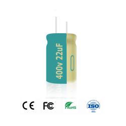 Ondulation de courant élevé 400V 1/1.5/1.8/2.2/3.3/4.7/10/22/33/47/56/68/82/100UF usine de condensateurs électrolytiques aluminium radial de la Chine VOYANT LED