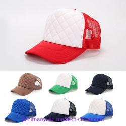 Preiswerter unbelegter kundenspezifischer Firmenzeichen-Hut-Vati-Baseball-Schaumgummi-Ineinander greifen-Rückseiten-Fernlastfahrer-Schutzkappen-Großhandelshut