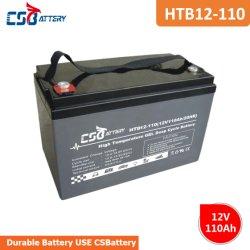 수세미를 위한 Csbattery 12V110ah 깊 주기 젤 건전지 또는 Telecome 또는 Scooter/UPS/Solar 거리 빛
