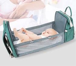 Высокое качество большие сумки Diaper ребенка мать ребенка подушек безопасности дорожная сумка с кроватью