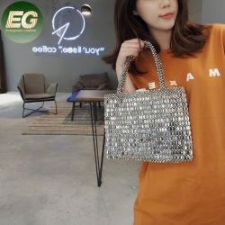 Eb1290銀製型の戦闘状況表示板アクリル袋のビードは美しい女性のハンドメイドのビーズのハンドバッグを編む
