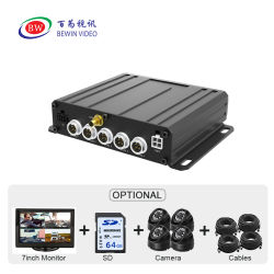 H265 높은 수준의 내충격 설계 CCTV Mdvr HDD 녹화 GPS 4G WiFi 트럭