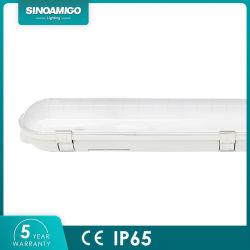 LED tubo fluorescente T8 luminária de luz Linear impermeável IP65 10W 20W 30W 40W 50W 60W