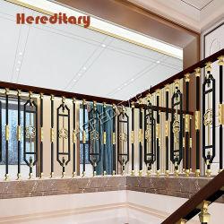 Corrimão da escada de alumínio de decoração de luxo e escada de alumínio Corrimão