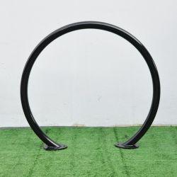 حامل حامل حامل لرف الدراجة خارجي معدني على شكل دائرة مفردة