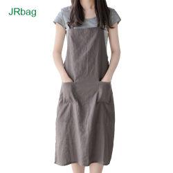 胸当てのタイプレジ係パターン綿のキャンバスの物質的な台所エプロン