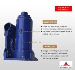 رافعة زجاجات السيارات الزرقاء وزنها 2 طن لخدمة السيارات