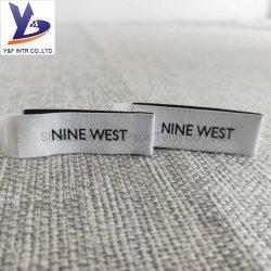 Centro de Venta caliente plegadas de corte por láser precio de fábrica de algodón personalizadas Accesorios de ropa de etiqueta tejida